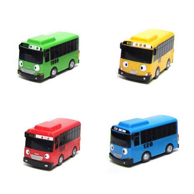 The Little Bus TAYO Friends Mini Set 4pcs Cars Toys Tayo Rogi Gani Rani Toy Gift