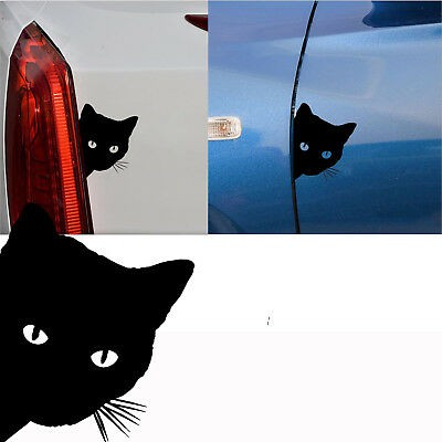 Funny Cat Face Peering Funny Car Decal Window Truck Auto Bumper Laptop Stickers