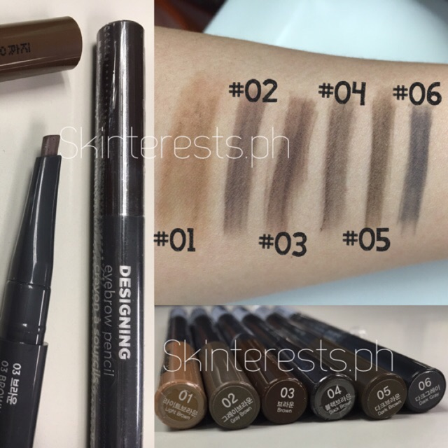 THE FACE SHOP Designing Eyebrow Pencil 0.3g | Shopee Philippines