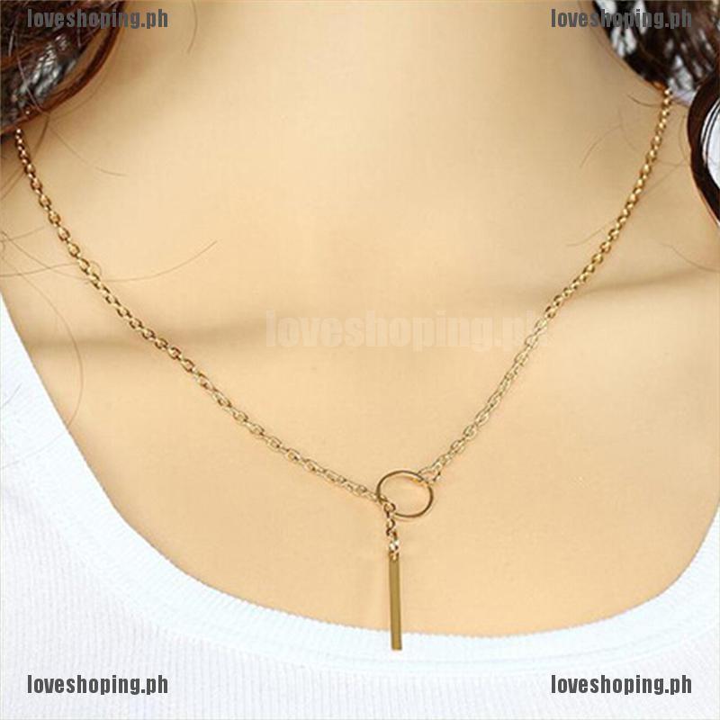 Women Fashion Jewelry Crystal Long Chain Pendant Bib Choker Statement Necklace