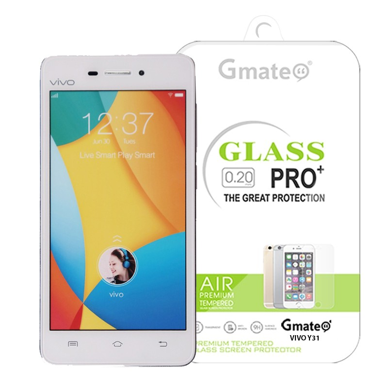 Vivo Y31 Gmate Tempered Glass Screen Protector .
