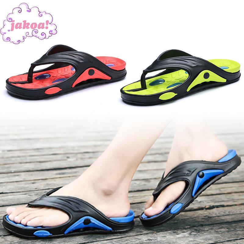 Slip-On Summer Adjust Strap Mens Leather Clogs Wood Sole Sandals Flip Flop Shoe