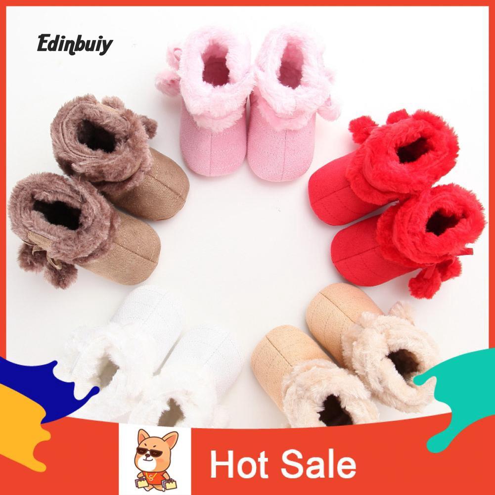 Infant Newborn Baby Boys Girls Cartoon Crib Winter Boots Prewalker Warm Shoes UK