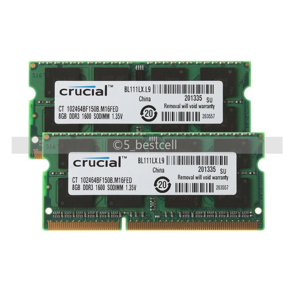 Crucial 8GB PC3L-12800 DDR3L 1600Mhz SO-DIMM Laptop Memory Ram