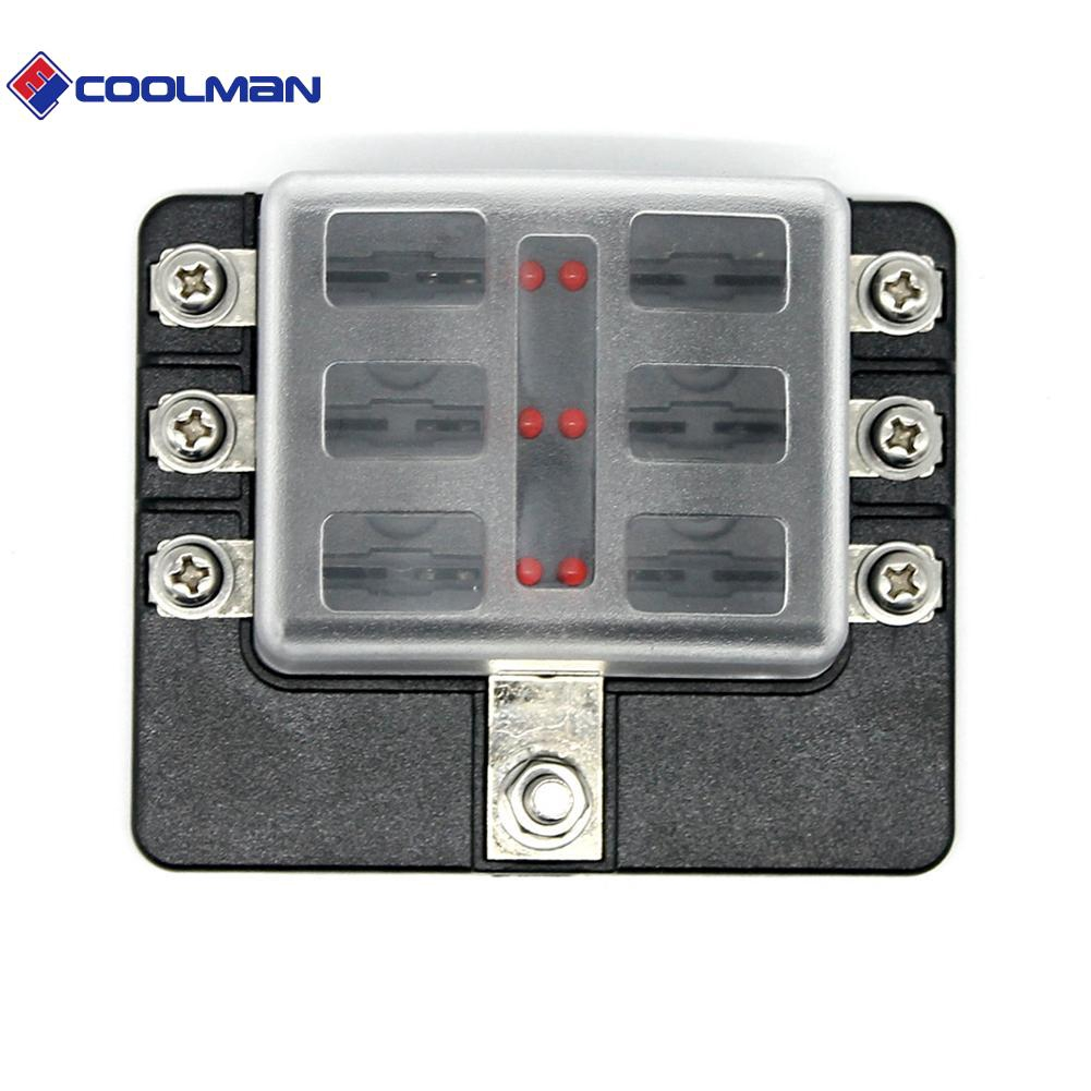 cool portable 6-way blade fuse box fuse block holder with fuses ...  shopee