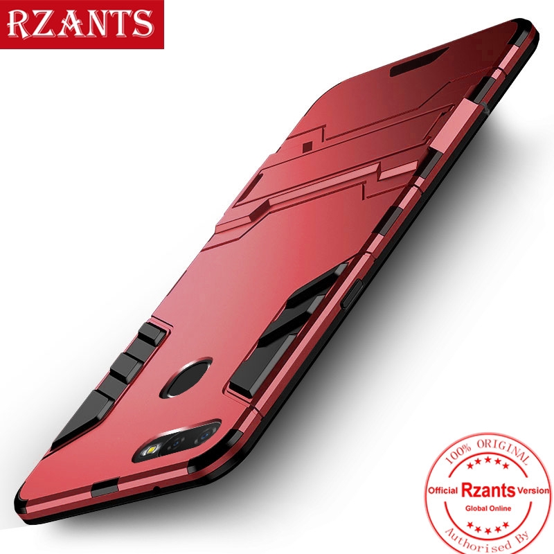 OPPO A7 Hard Case Stand Thin Phone Casing Shockproof Cover