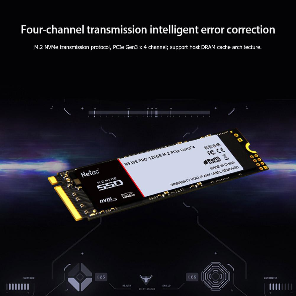 🔌DOM🔌 Netac N930E Pro M 2 NVMe SSD PCIE Gen3 4 Channel Solid State Drive  Disk