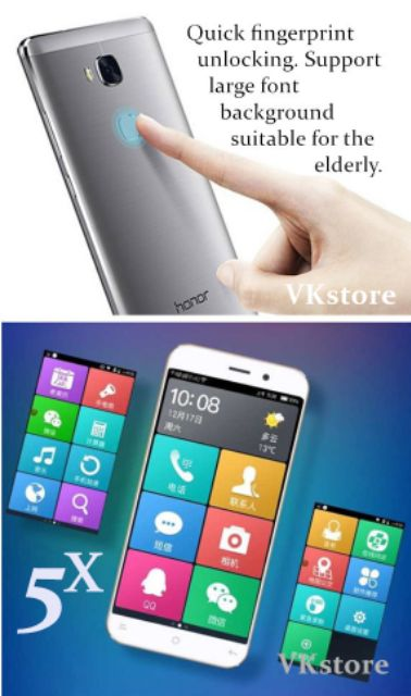 Original HUAWEI honor 5X phone 5 5inches Fingerprint unlock | Shopee