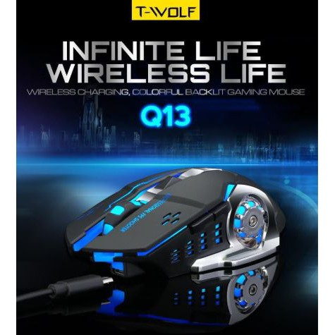 T-Wolf Q13 Wireless Mouse Charging Colorful Glowing