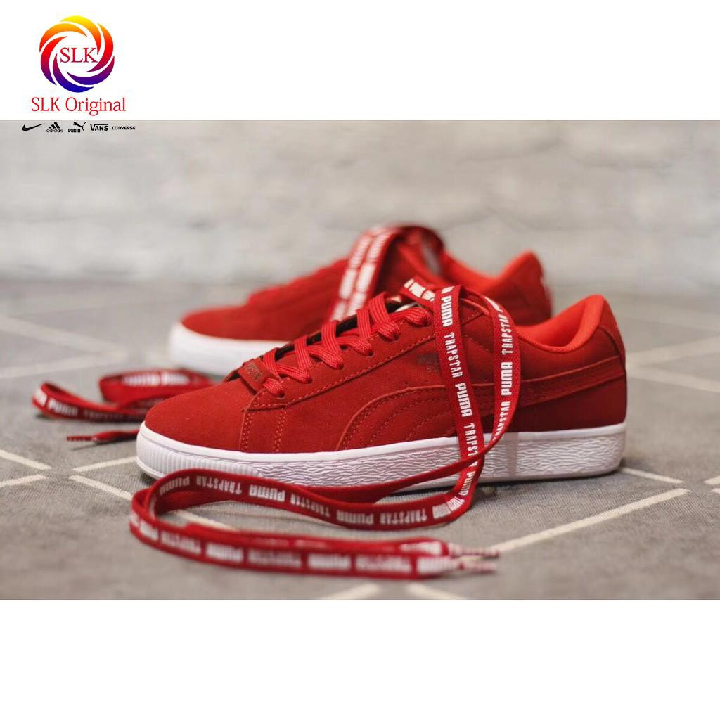 f31016beb2bc SLK Original ☆ original rihanna PUMA SUEDE X TRAPSTAR all red men women  sport skateboard shoes