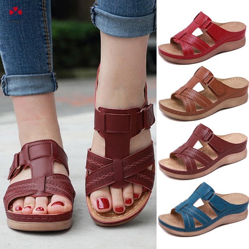 1a920c146143d ❀❃❀ Women Premium Orthopedic Open Toe Sandals Vintage Anti-slip Breathable  for Summer