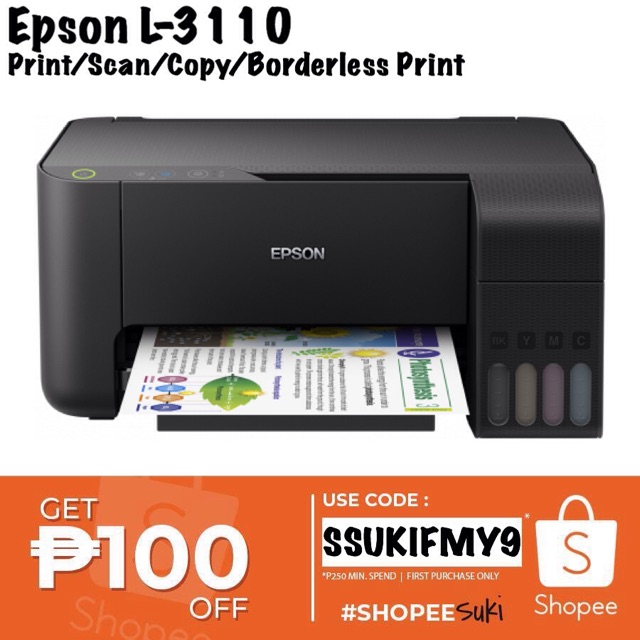 Epson L3110 EcoTank ALLinONE Printer | Shopee Philippines
