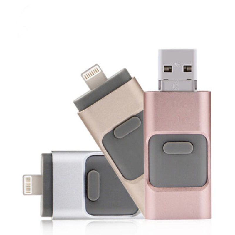 3 in 1 USB Flash Drive 512GB Lightning OTG Pen Drive for iPhone Android PC