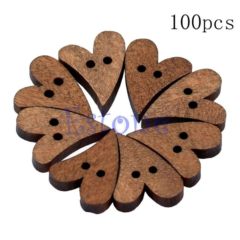 100 Pcs Pentagram Shapes Embellishments DIY Accessories Crafts Wooden Home Decor