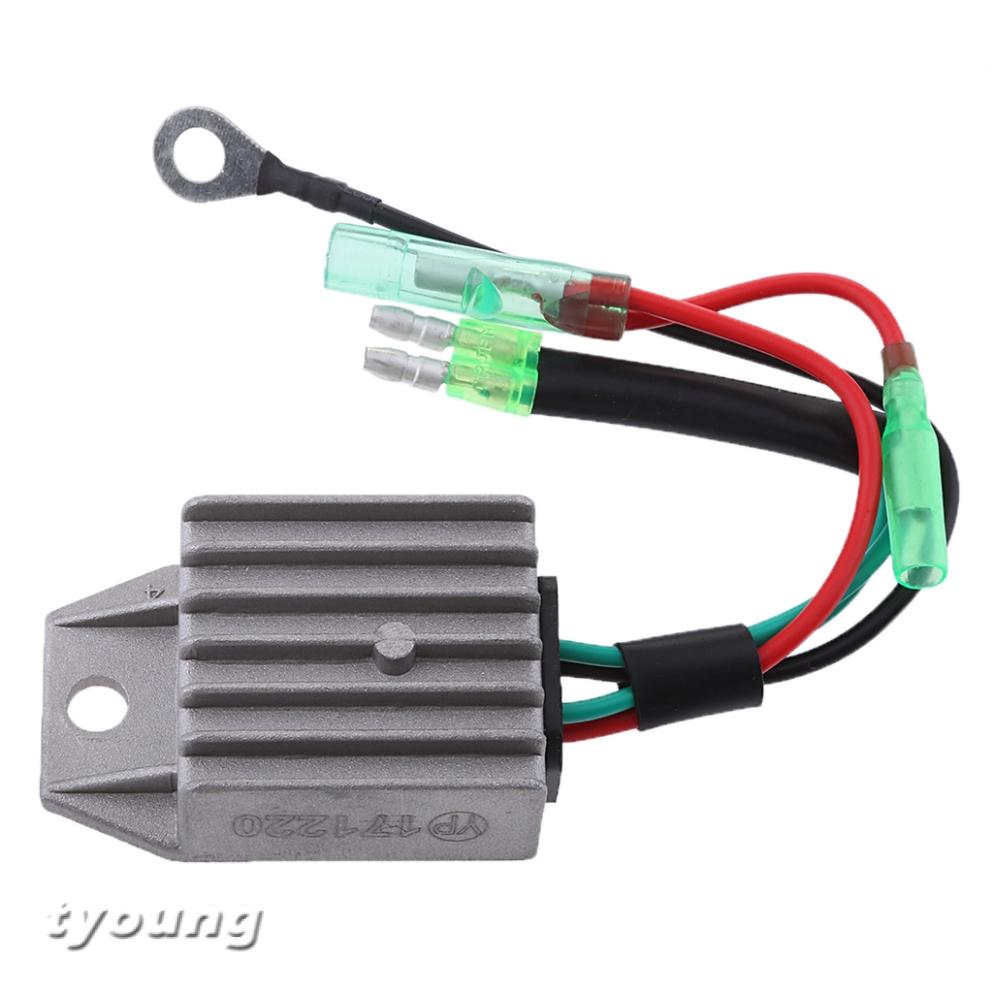 1PC Voltage Regulator Rectifier for Marine 2 Stroke 15HP Boat Outboard Motor