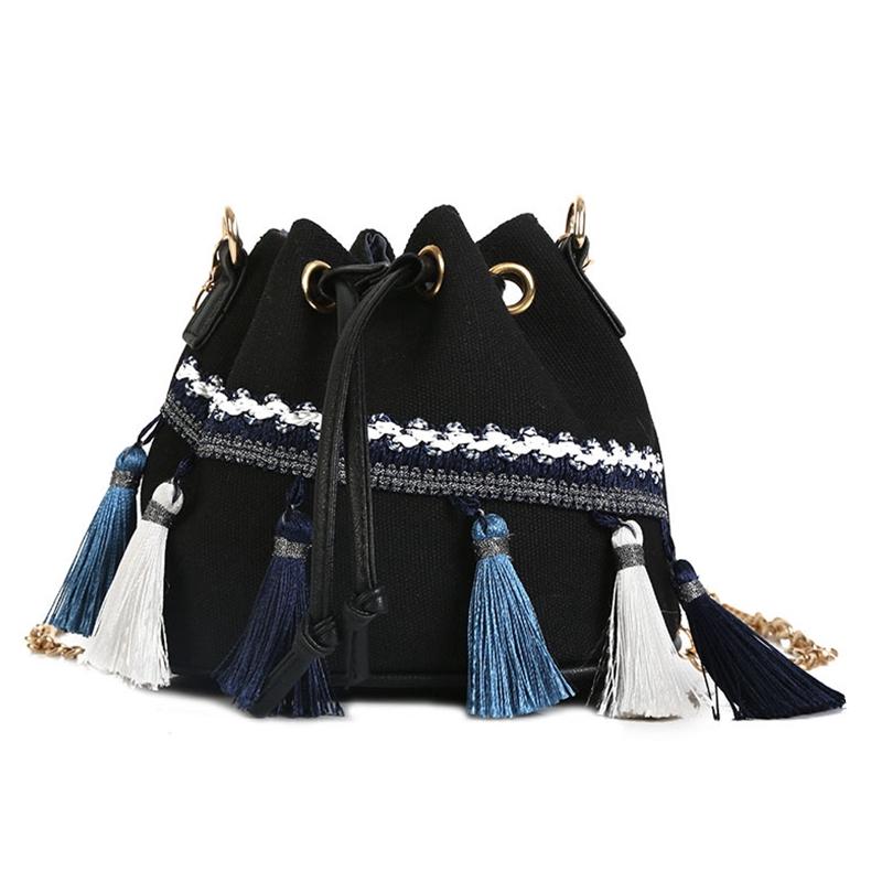 14c3c9b7d5c0 New 2018 Women Tassel Sling Bags Rivet Shoulder Bags