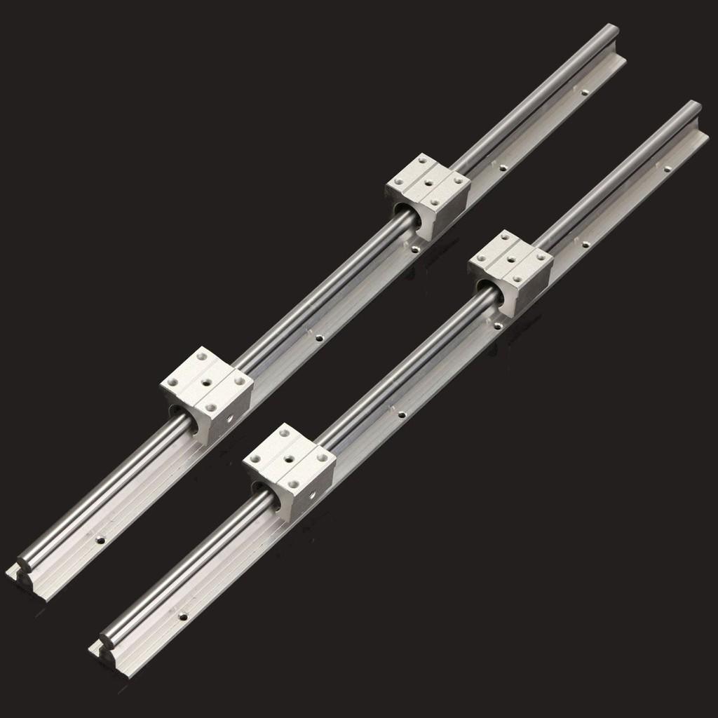 4 sets SBR12-600mm  FULLY SUPPORTED LINEAR RAIL SHAFT ROD 8 SBR12UU Block