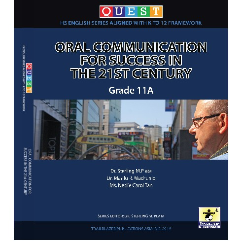 Oral Communication for Success in the 21st Century Grade 11A