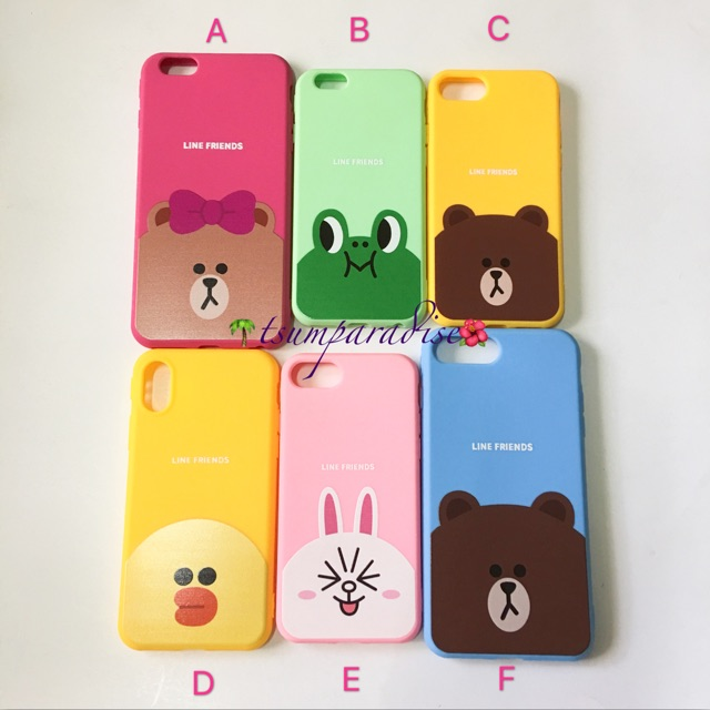 competitive price df7d5 cfa7f iPhone 7 7+ 8 8+ X Line Friends Case Brown Sally Cony Choco
