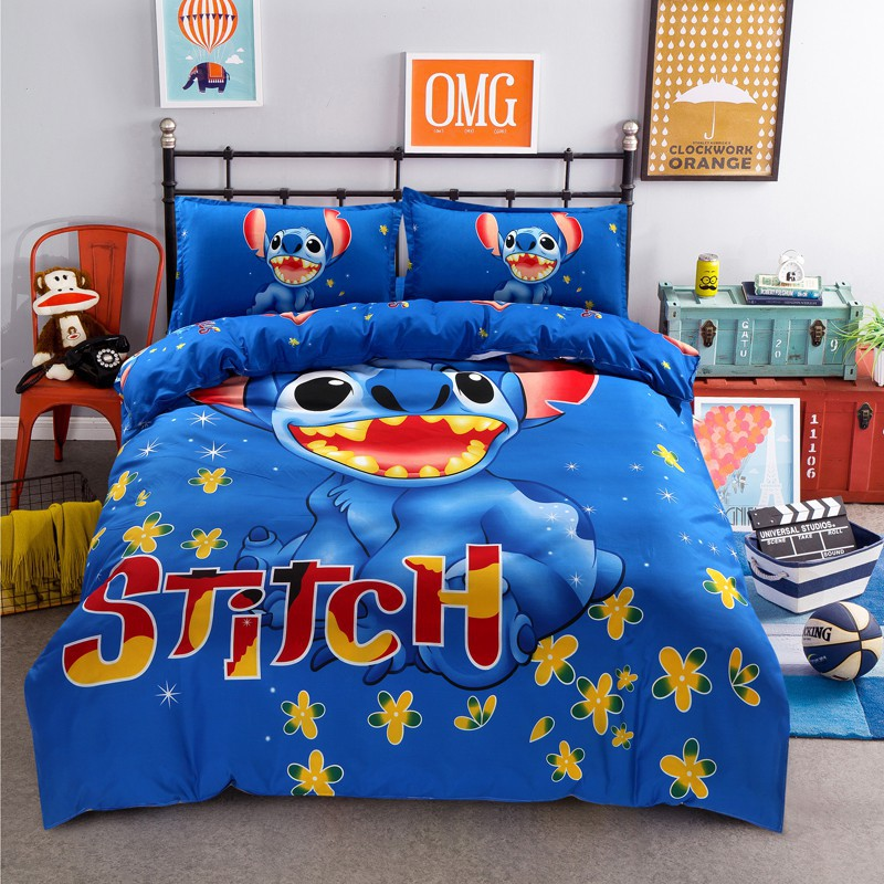 Cotton Cute Cartoon Bed Sheets Set, Queen Plus Bed Sheets