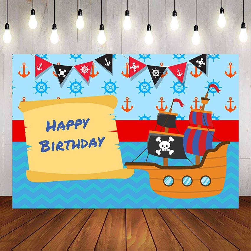 Photography Background Caribbean Pirate Ship Birthday Flag Party Baby Kids Children Decor Photocall Backdrop Photo Studio Custom Name Photo Shopee Philippines