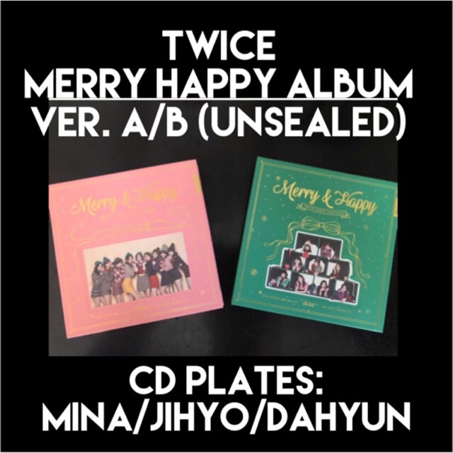 TWICE Merry Happy Album (Unsealed)