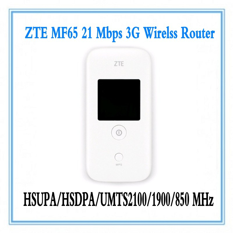 Unlocked ZTE MF65+ HSPA 21 6Mbps 3G Wireless Router