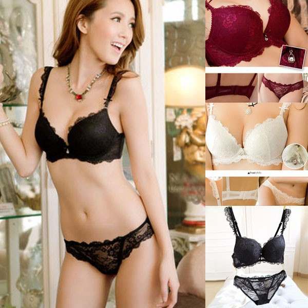 4ee22a0437 Women Brassiere Lace Underwear Push Up Bra Set Plus Size