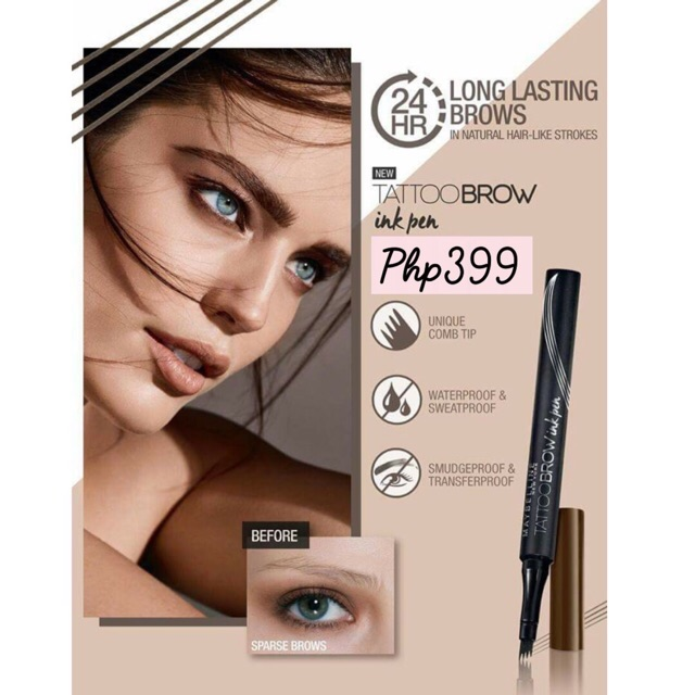 Maybelline Tattoo Brow Ink Pen | Shopee Philippines