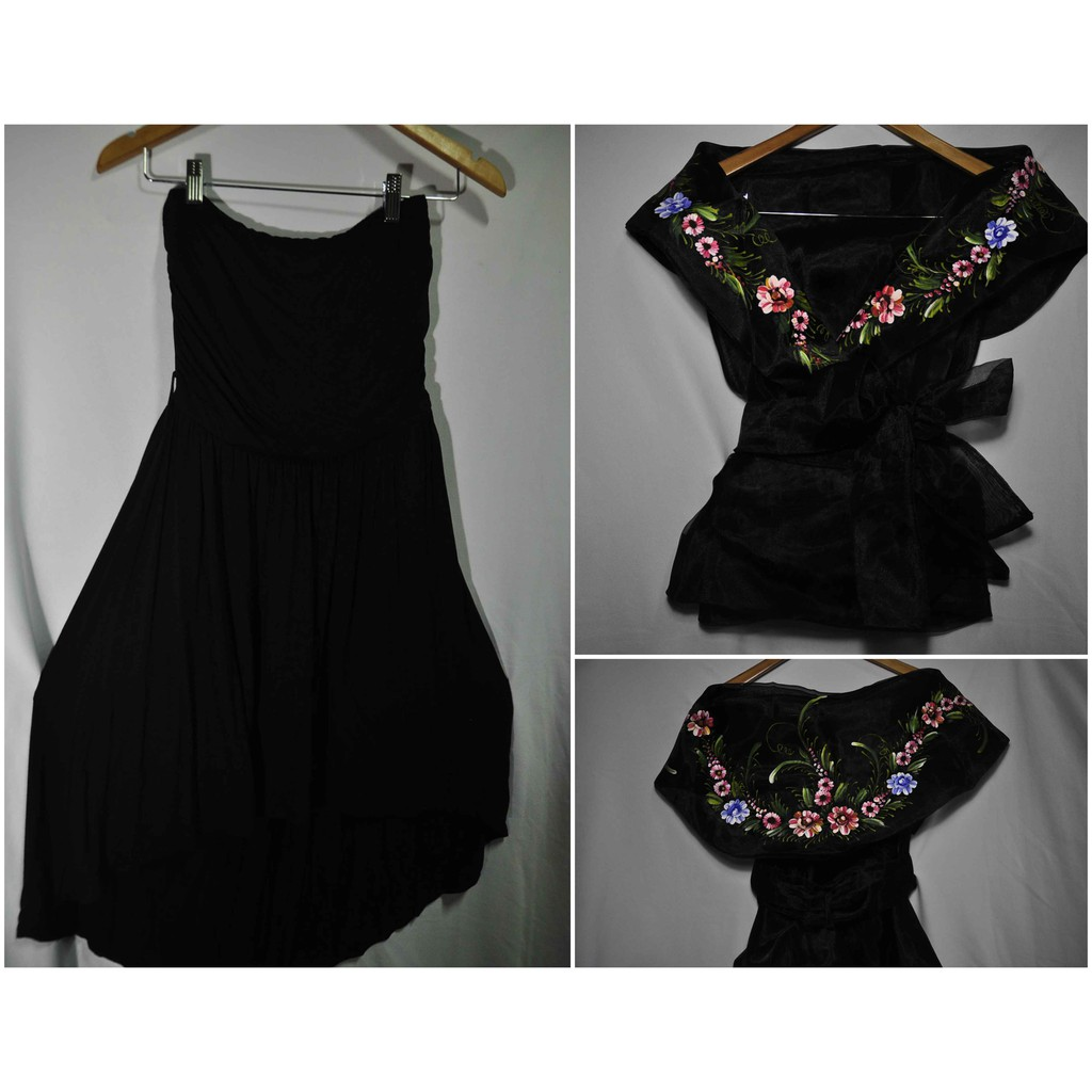 Black On Black Filipiniana Set Shopee Philippines