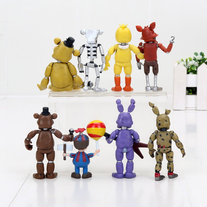 4pcs/set Five Nights At Freddy's Figure FNAF Bonnie Foxy Freddy Model Toy
