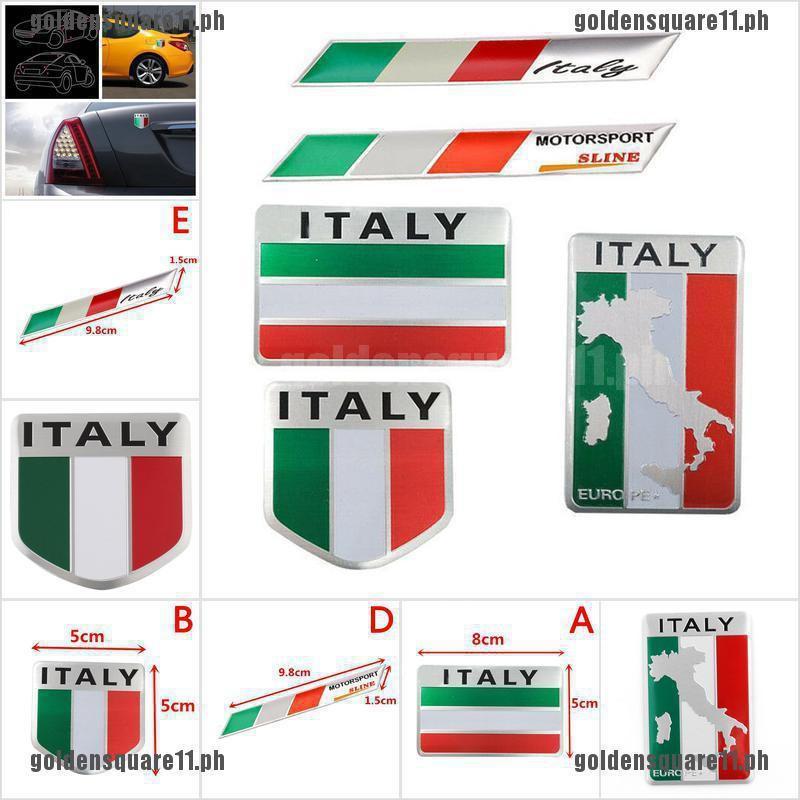 "3D Aluminum Alloy Various Flag 1.75/""x 1.75/"" Metal Emblem Sticker Decal Car"