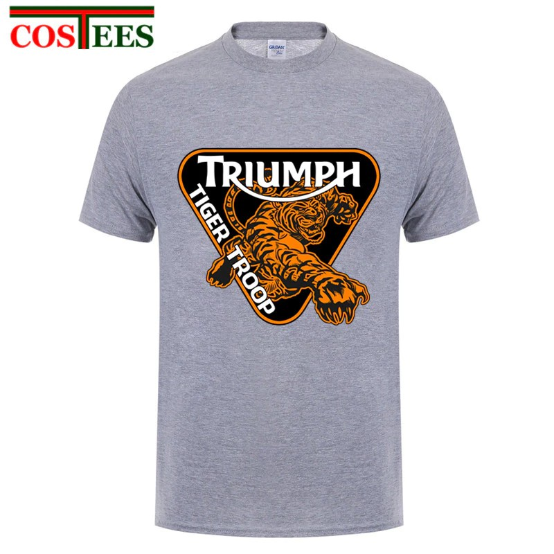 14449a26 New Mens Triumph Motorcycle T Shirts Men Two Sides Triumph Logo Short  Sleeve T-Shirt Size Xs-Xxl Top   Shopee Philippines
