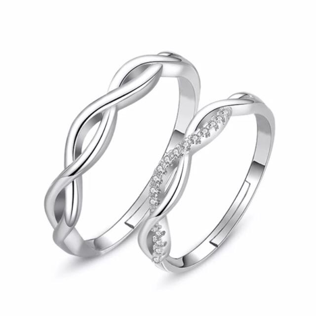 5ebd47d429 【A&j】#30.Platinum couple wedding ring Adjustable