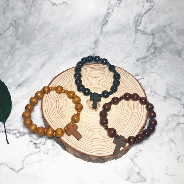 10pcs Tali Wood Rosary Bracelet
