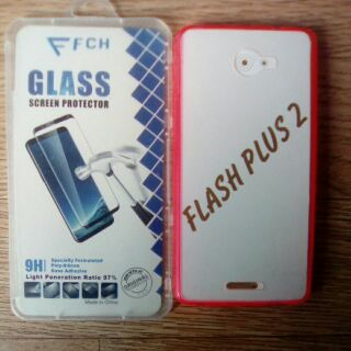 quality design 99677 afea1 ALCATEL FLASH PLUS 2 JELLY CASE WITH TEMPERED GLASS