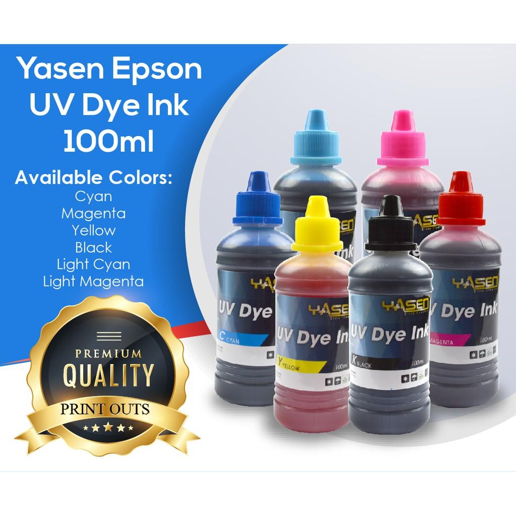 Uv Dye Ink For Epson Canon Hp Lexmark Brother 100ml Shopee Fast Print Black Based Photo Premium Philippines