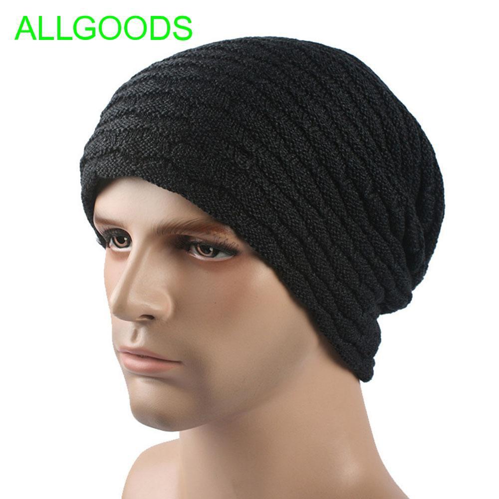 Men s knit plus velvet thickening outdoor wool cap  764cddfceae2