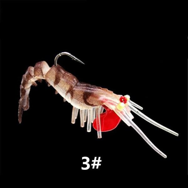 4 Pcs//set Minnow Soft Bait Artificial Fishing Lure Worm Shrimp Tackle Kit JH