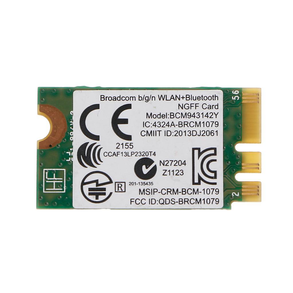 New BCM943142Y 802 11b/g/n Bluetooth 4 0 WLAN 150Mbps NGFF Wireless Wifi  Card