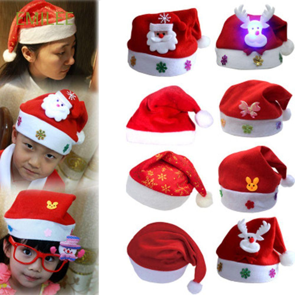 Home & Garden Christmas Party Headwear Hat Headband Festive Santa Snowman Elf Reindeer Xmas Party Cap Gift Children Kid Baby