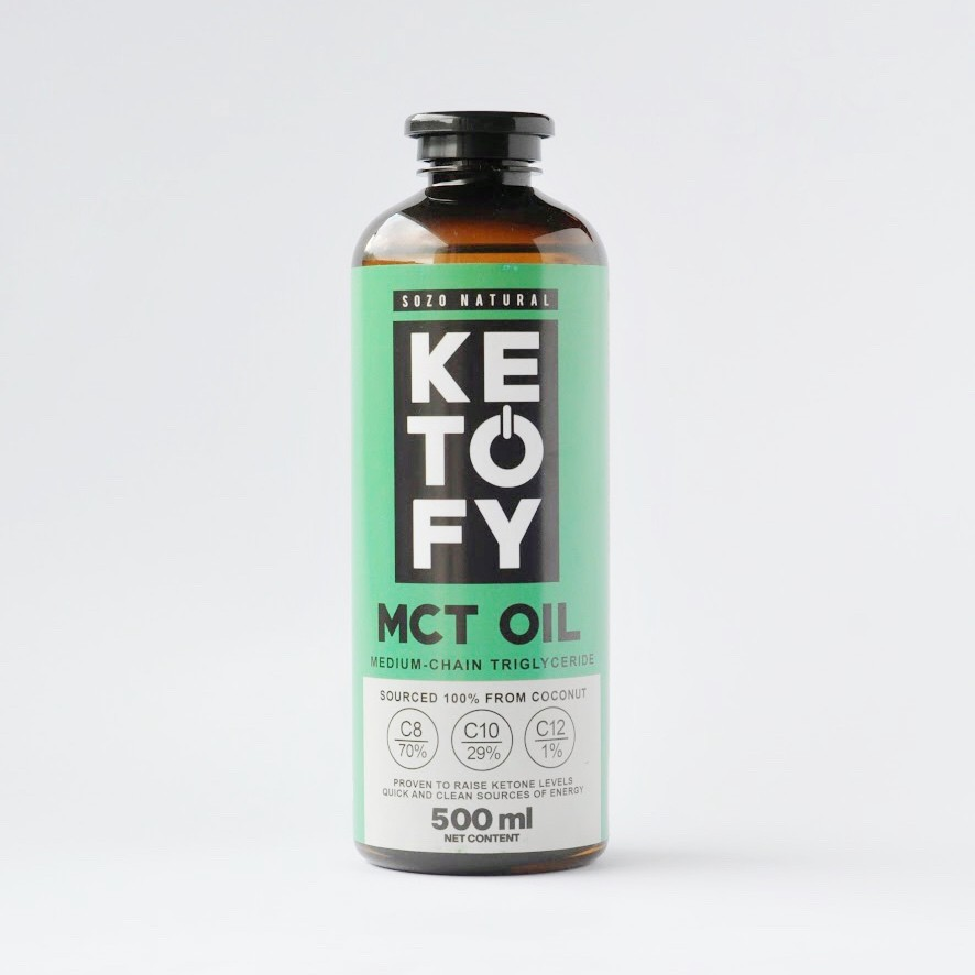 KETOFY Premium MCT Oil 500ml C8 Brain Octane and C10 XCT