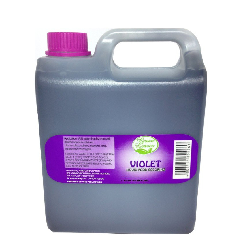 Green Leaves Concentrated Violet Liquid Food Color 1 Kilo | Shopee ...