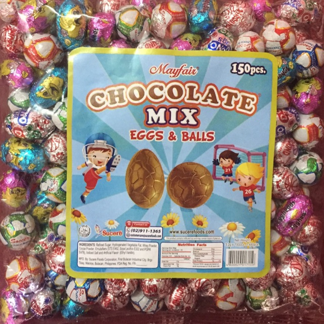 😋😋COD🍀Chocolate mix eggs&balls 150pcs