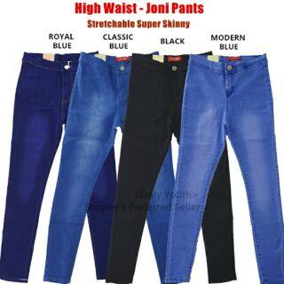 Semi High Waist Jeans 5color Koreanstylestretch Skinny
