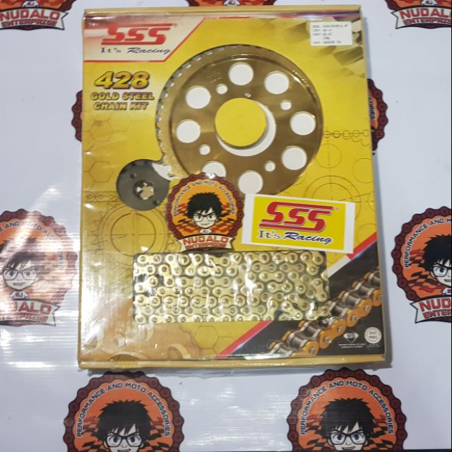 SSS 15 42T RS150 Sprocket and Chainset (Steel) ETC