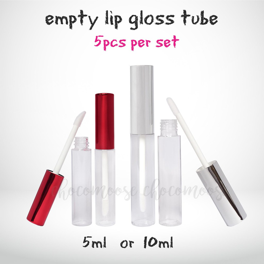 1pcs Empty Lipstick Bottle Lip Gloss Tube Lip Balm Tube Container With Cap Clear Black White Cosmetic Sample Container 9.3cm*3cm Skin Care Tools