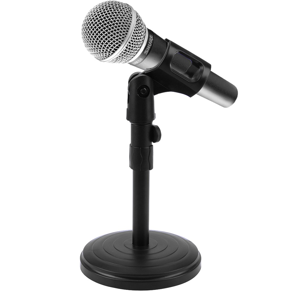 co!Adjustable Foldable Desk Table Microphone Clip Stand Mic Tripod Holder  Suppor
