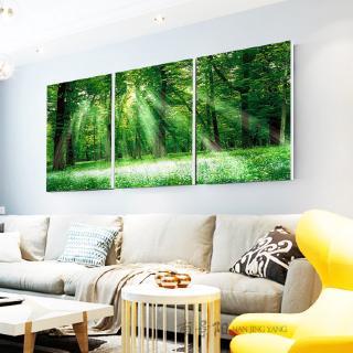 lukisan hiasan minimalis moden ruang tamu pokok-pokok