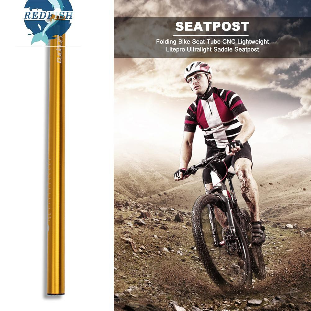 Black clamp LitePro Folding Road Bike Saddle Seat post Seatpost 33.9*600mm Red
